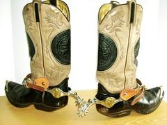 Sendra schwarz-grau Schaft-Wappen Spurs 034 (xjr.bikerman) Tags: spurs boots cowboyboots sporen wappen stiefel cowboystiefel sendra