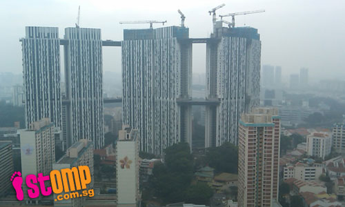 Haze darkens S'pore city view at International Plaza