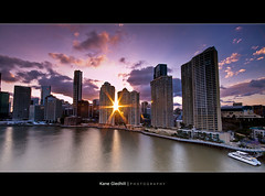 Trying Something... ([ Kane ]) Tags: city sky urban sun clouds star australia brisbane qld kane brisbanecity 10mm gledhill 50d kanegledhill wwwhumanhabitscomau kanegledhillphotography