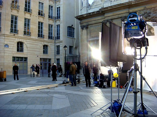 movie shooting paris