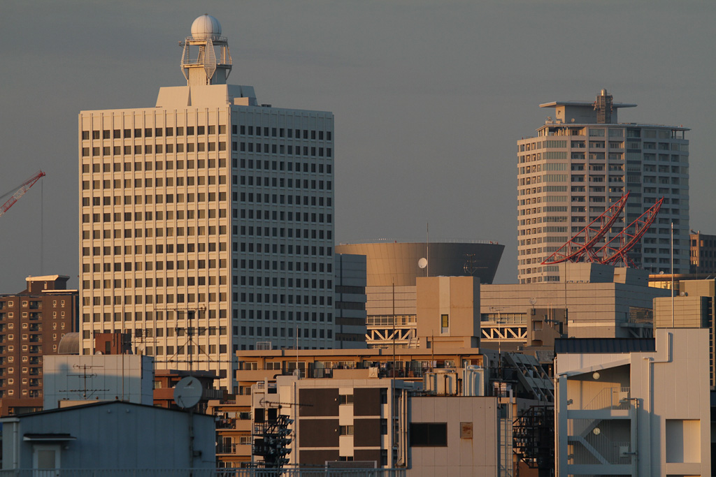 Osaka City in dusk