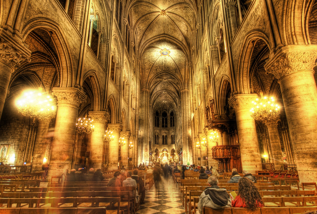 The Golden insides of Notre Dame