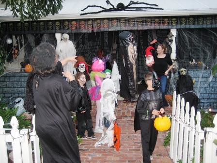 Trick-or-Treaters in Punta Gorda, Fla.