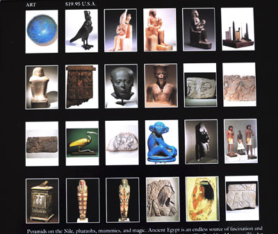 Egyptian collection Brooklyn Museum book back