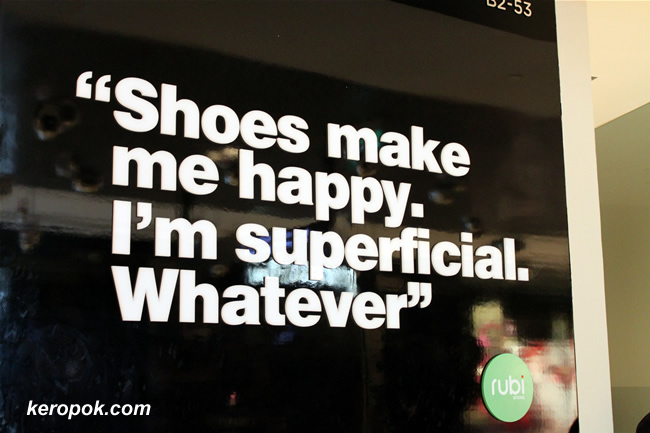 Shoes make me happy. I'm superficial. Whatever