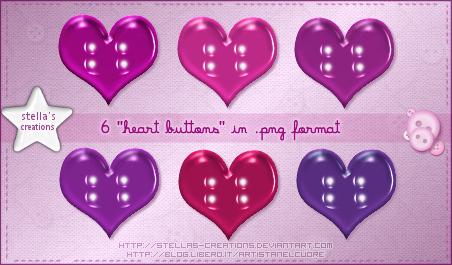 Heart buttons - © Blog Stella's Creations: http://sc-artistanelcuore.blogspot.com