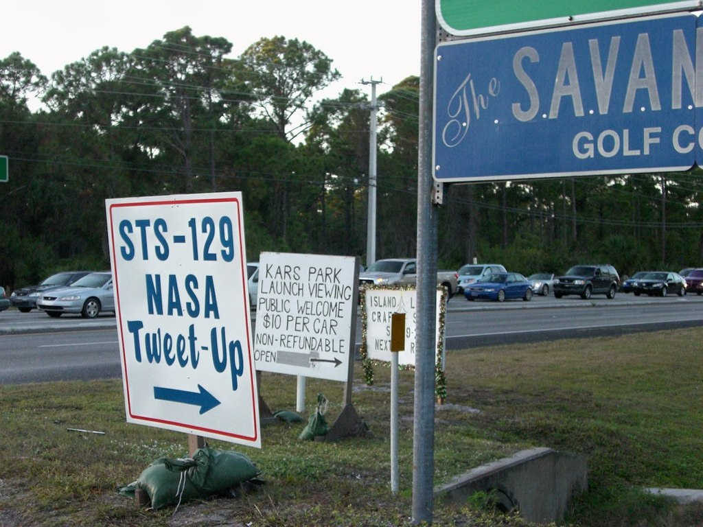 NASA Tweetup Entrance Sign