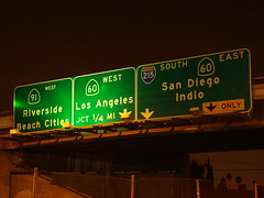 Sign Gantry @ 60+91+215 (mike_s_etc) Tags: road sign highway freeway interstate 60 91 215 gantry sr60 sr91 stateroad i215 riversidefreeway pomonafreeway morenovalleyfreeway signgantry