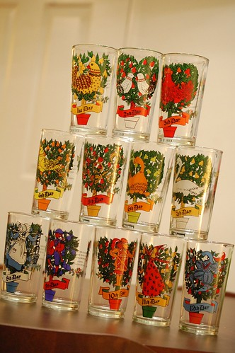 12 days of Christmas glasses