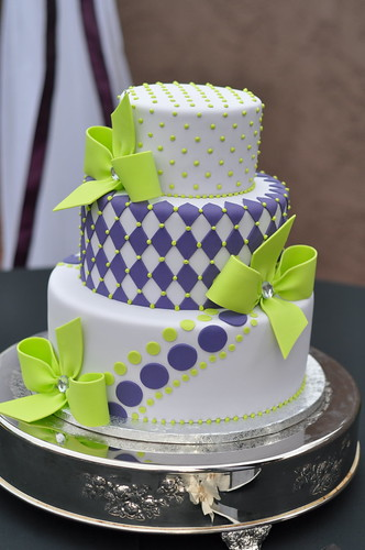Purple & Green Wedding Cake - a photo on Flickriver