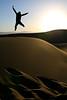 252.365 - The Dunes (Universal Stopping Point) Tags: california morning light mountains silhouette self sunrise early jump jumping sand glow desert dunes footprints 365 sanddunes deathvalleynationalpark project365 sandripples 365icon contrastvibrancybrightness 365icon682