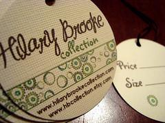 hilary brooke - double-sided hang tags