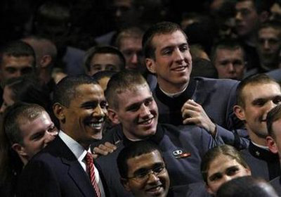 West Point Cadets with President Obama