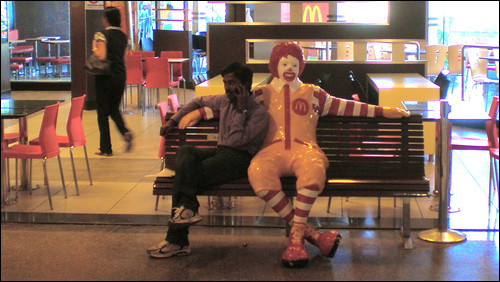 Hanging out with Ronald