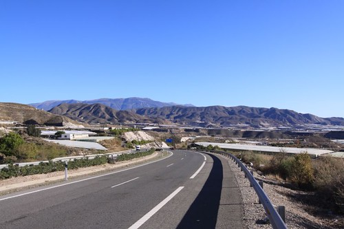 Typical scenery west of Almería, southeastern Spain.