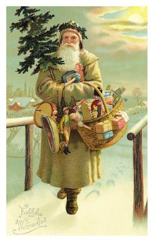 011-Tarjeta de Navidad Austria 1899-Taringa