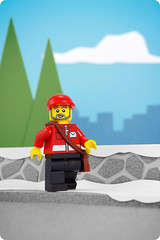 Day 10: Mailman (powerpig) Tags: city winter snow advent calendar lego 2009 mailman