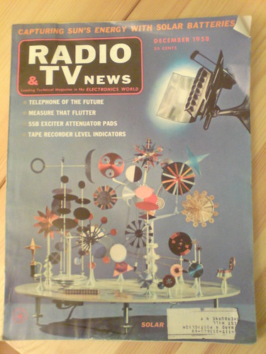 The Eames's Solar Do-Nothing Toy on the cover of Radio & TV News, Dec. 1958