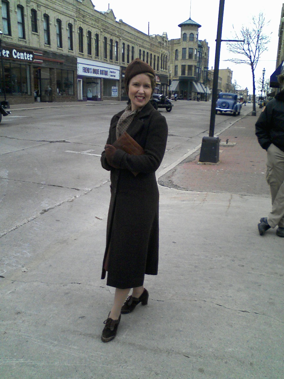 Public Enemies on Set
