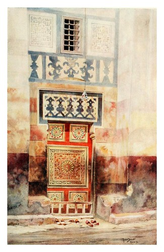 010-Puerta de una mezquita en el Cairo-Cairo, Jerusalem, and Damascus..1907- Margoliouth D. S.
