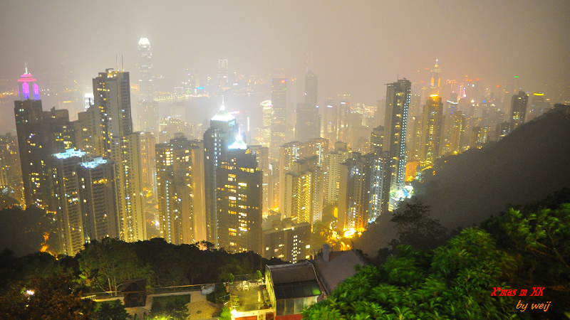 很霧的太平山夜景