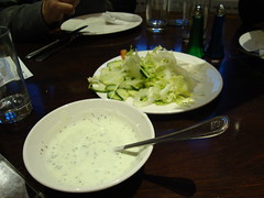 raita and green salad lahore kebab house