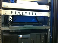 Windows xp laptop in the server rack