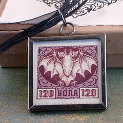 Bonk / Ankh Morpork Reversible Stamp Pendant Necklace