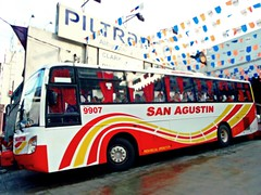 San Agustin at Philtranco (bhettina limchu) Tags: red man bus yellow philippines cavite cubao 9907 sanagustin alibangbang balayan philtranco almazora 18280