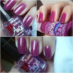 Me rendi aos flakies... (carol_adami) Tags: nails sa unhas risque roxo esmaltes flocado sancionangel esmaltinhos