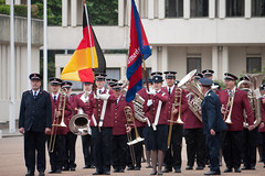 ISB120 2011 051 (Howard.) Tags: london flag band flags german marching instruments preparing 2011 staffband isb120