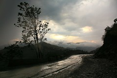 Drama (Nilanjan Sasmal) Tags: sunset storm rain clouds drive monsoon himalaya himachalpradesh wetroad dramaticcloud longdrive