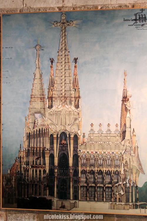blue print of sagrada familia
