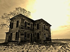 the ghosts won't let you go... (BillsExplorations) Tags: abandoned abandonedillinois decay forgotten shuttered abandonedhouse old prairie ghosts sliderssunday hss oncewashome sepia