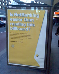 NetBank is easier than billboards?