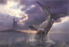 mosasaur chased pteranodon