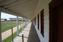 Porch of the Enlisted Soldier's Barracks (lars hammar) Tags: history minnesota soldier army fort military perspective stpaul historic porch barracks fortsnelling minnesotahistoricalsociety