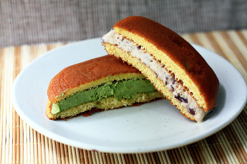 ice cream dorayaki matcha red bean