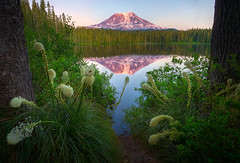 Mount Adams At Sunset From Takhlakh Lake (kevin mcneal) Tags: pictures sunset lake mountains images mountadams mountainreflection takhakhlake