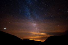 In space, no one can hear you scream (c@rljones) Tags: mountains silhouette wales stars landscape iso3200 lights venus cloudy space cymru wideangle hills galaxy planet snowdonia universe cosmos gwynedd milkyway d300 sigma1020mm httpwwwrljonescouk sasyouhoopyfrood
