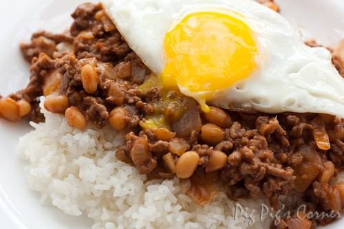 Minced beef and baked beans 2