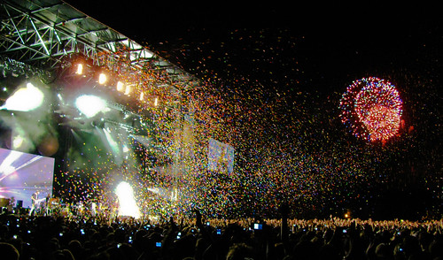 Coldplay Concert Stage (Osheaga 2009) with Fireworks & Butterflies