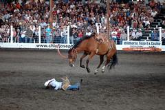 Payback.... (yadam84) Tags: family camping summer horses cowboys oregon joseph spurs cowboy boots wranglers dirt rodeo chaps cjd rodeos wallowas buckedoff 8secondride