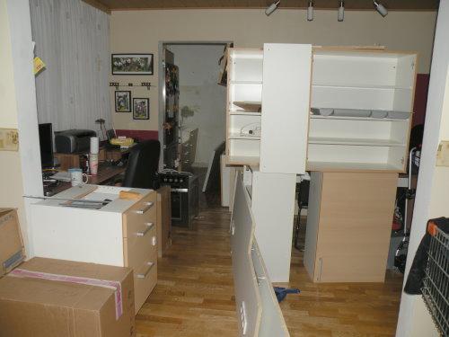 die Küche ist zerlegt