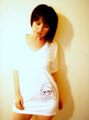 i embroidered richard brautigan on a tshirt