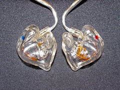 Custom ear monitors! (the lagoonies) Tags: musician music canon is singapore clear cables ear monitors transparent custom audio es2 earphones westone shure headfi audiophile iem sx110 se530 remoulded reshelled