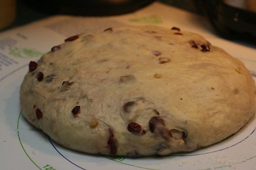 Dough With Cranberries and Walnuts