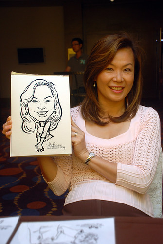 Caricature live sketching for Standard Chartered Bank - 15