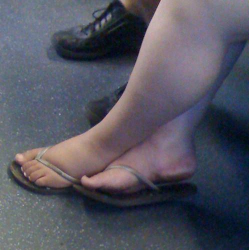 Milf white bbw feet
