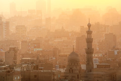 Golden Dust (ania.egypt) Tags: travel sunset holiday twilight dusk minaret islam egypt mosque cairo dust wakacje egipt zachdsoca podr kair meczet